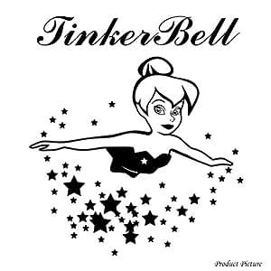 tinkerbell tinkerbell filme benutzerdefinierte namen personalisierte namensaufkleber. Black Bedroom Furniture Sets. Home Design Ideas