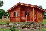 Gartenhaus SALAMANCA 58 Blockhaus Holzhaus 595 x 420 cm - 58 mm Ferienhaus