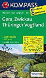 Gera - Zwickau - Thüringer Vogtland: Wanderkarte mit Kurzführer, Radwegen und Loipen. GPS-genau. 1:50000 (KOMPASS-Wanderkarten, Band 816)