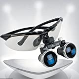 Genmine High-End-Luxus Zahnarzt Schwarz Dental Surgical Medizinische Binokularlupen 3.5X 320mm Optical Glass Loupe