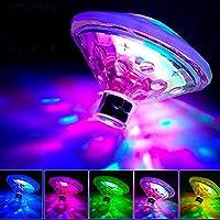 SUNSETGLOW Luces De Piscina, Luces LED Flotantes para Estanque Luces De Baño para Bañeras De Bebé Luces Flotantes para Bañera De Hidromasaje, Fiesta En La Discoteca(7 Modos, con Pilas)