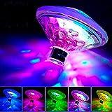 SUNSETGLOW Schwimmbad Lichter, schwimmende LED Teich Lichter Baby Badewanne Spielzeug Schwimmende Lichter für Whirlpool, Disco Pool Party, Teich Dekorationen (7 Modi, batteriebetrieben)