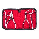 EG GIFTS Professionale Dermal Anchor Piercing Strumenti Anello Pinza Kit 2 Dermal Pinze e 2 pinze per Anelli con Un Caso
