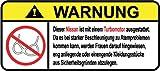 Nissan Turbo Motor German Lustig Warnung Aufkleber Decal Sticker