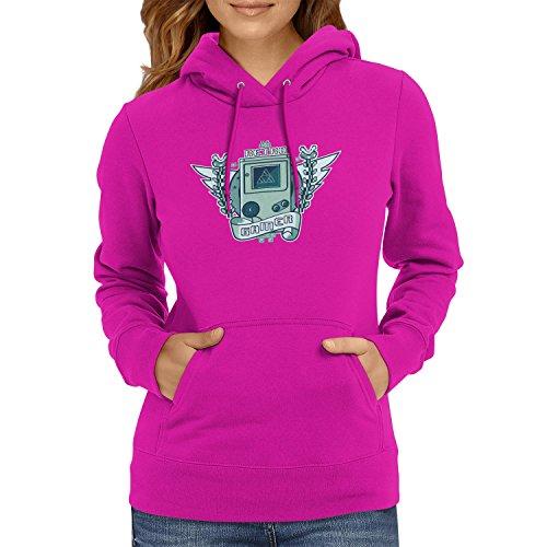 Logo - Damen Kapuzenpullover, Größe S, fuchsia (Space Invaders-kostüm)