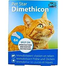 Pipetas para gatos anti anti pulgas y garrapatas natural al dimeticona 6 x 1,5 ml