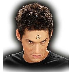 Aplicable de látex símbolo de pentagrama antifaz satanás demonio halloween maquillaje profesional