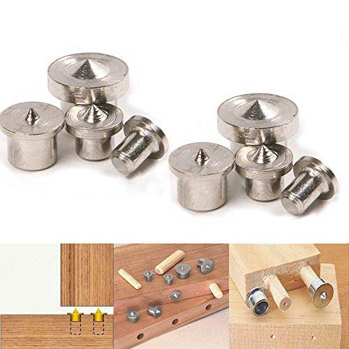 8 ST Holzdübel Zentrierspitzen Holzverarbeitung Handwerk Klemme 6/8/10/12 mm (Blockieren Spitze)