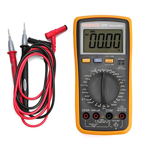 Multimeter, Dt87 Multimeter 6000 ZäHlt AC/DC LCD Digital Volt Amp Ohm KapazitäT Duty Cycle Diode Test Duty-cycle-multimeter
