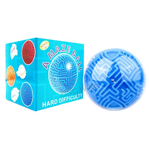Magic Maze Ball for Kids Adults,Mini 3D Gravity Maze Bead Marble Ball Classic Hard Puzzle Sequence Board Trouble Memory Brain Teasers Game Toys Gifts Presents