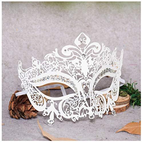 WASAIO Halloween-Maskerade-halbe Gesichtsmaske,White (Mysterium Mann Kostüm)