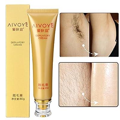 Bureze AIVOYE Depilatory Cream Powerful Permanent Body Hair Removal Hair Growth Inhibitor by Bureze