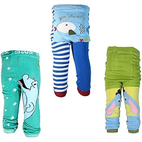 Backbuy 3 pantaloni 0 - 24 mesi per bambino ragazzi Leggings pantaloni lavoro a maglia pantaloni n5 m11 v2