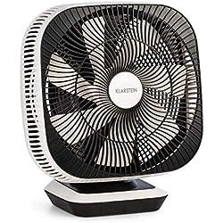 Klarstein Windmaster Ventilateur (8 Niveaux de Vitesse, 3 Types de Vent, Oscillation Horizontale et Verticale, très Silencieux, Puissance sonore 20 DB, Design Moderne, télécommande Incluse) Blanc