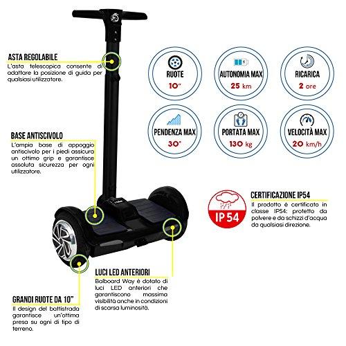 Hoverboard balboard Way 10Scooter Elektro 700W 10Zoll 25km/h i-bike - 3