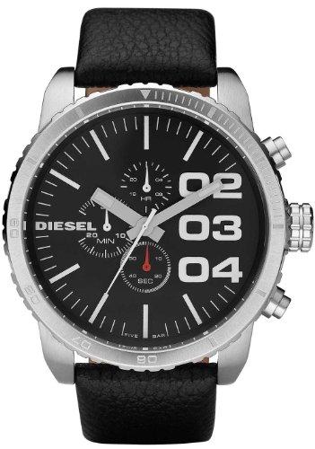 Diesel - DZ4208 - Montre Homme - Quartz Analogique - Cadran Noir - Bracelet Cuir Noir