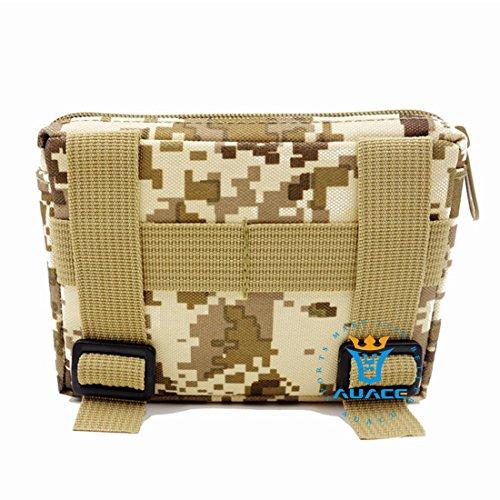 4x 6multifunzione sopravvivenza Gear Tactical marsupio Molle della velcro bag Tactical marsupio, strumento di campeggio esterna portatile di viaggio borse borse borse del sacchetto DDC