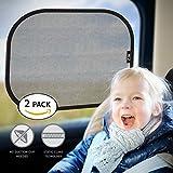 Sonnenschutz Auto Baby mit UV Schutz, BEZ® Autosonnenblende Sonnenschutz, Sonnenblende für die Seiten- und die Rückscheibe (2-er Packung)