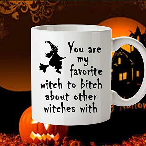 Halloween Mug, Halloween Gift for Friend, Halloween Mug for Friend, Gift Idea for Halloween - My Favorite Witch Mug