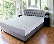 Mattress Protector | Waterproof Mattress Protector, | Bamboo Mattress | Bed Bug Cover | Dust Mite Free | Hypoa