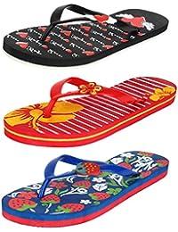 Bersache Women Combo Pack of 3 Flip-Flops & House Slippers