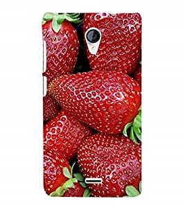 Fuson Designer Back Case Cover for Micromax Canvas Hue 2 A316 (red Strawberries Juicy Juicy Strawberries Berries)