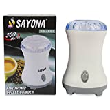 Powerful Sayona Electric Coffee Spices Grinder - Transparent Top Lid - Stainless Steel Blades