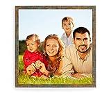 Holz - Rahmen für Bilder quadratisch 10x10 15x15 20x20 25x25 30x30 40x40 50x50 Rahmen zum Aufhängen Farbe Altes Kupfer - Format 10x10