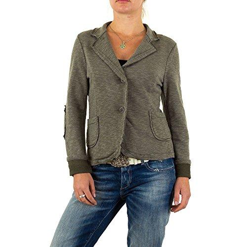 Stretch Blazer Jacke Für Damen , Khaki Bei Ital-Design (Blazer Design)