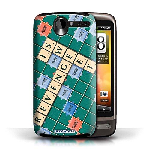 Kobalt® Imprimé Etui / Coque pour HTC Desire G7 / Coeur Chaud conception / Série Mots de Scrabble Douce Vengeance