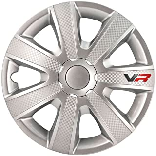 Satz Radzierblenden VR 13-Zoll Silber/Karbon-Look/Logo