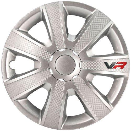 VR 16-Zoll Silber/Karbon-Look/Logo (16-zoll-felgen)