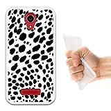 WoowCase Doogee X3 Hülle, Handyhülle Silikon für [ Doogee X3 ] Dalmatinisches Muster Handytasche Handy Cover Case Schutzhülle Flexible TPU - Transparent