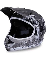 Motorradhelm X-treme Kinder Cross Helme Sturzhelm Schutzhelm Helm für Motorrad Kinderquad und Crossbike Modell Design 2015 in dunkel grau Matt