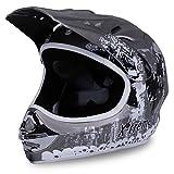 Actionbikes Motorradhelm X-treme Kinder Cross Helme Sturzhelm Schutzhelm Helm für Motorrad Kinderquad und Crossbike Modell Design 2015 in dunkel grau Matt (Large)