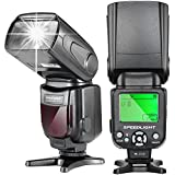 Neewer® NW-561 Speedlite Flash con Pantalla LCD para Cámaras DSLR Canon & Nikon, por ejemplo: Canon Rebel T5i T4i T3i T3 T2i T1i SL1, EOS 700D 650D 600D 1100D 550D 500D 100D 6D, 1Ds Mark III, 1Ds Mark II, 5D Mark III, 5D Mark II, 1D Mark IV, 1D Mark III and Nikon D7200 D7100 D7000 D5200 D5100 D5000 D3000 D3100 D300 D300S D700 D600 u otras cámaras con flash estándar