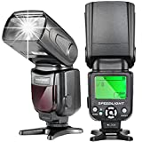 Neewer® NW-561 Speedlite Flash with LCD Display for Canon & Nikon Digital DSLR Cameras, such as Canon Rebel T5i T4i T3i T3 T2i T1i SL1, EOS 700D 650D 600D 1100D 550D 500D 100D 6D, 1Ds Mark III, 1Ds Mark II, 5D Mark III, 5D Mark II, 1D Mark IV, 1D Mark III and Nikon D7200 D7100 D7000 D5200 D5100 D5000 D3000 D3100 D300 D300S D700 D600 , and All Other DSLR Cameras with Standard Hot Shoe