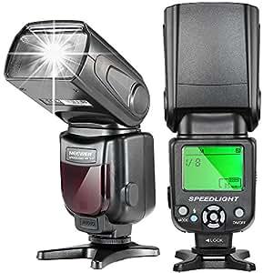 Neewer® NW-561 Flash Speedlite avec Affichage LCD pour Canon et Nikon Numérique DSLR, comme Canon Rebel T3i T5i T4i T3 T2i T1i SL1, EOS 700D 650D 600D 1100D 550D 500D 100D 6D, 1Ds Mark III, 1Ds Mark II, 5D Mark III, 5D Mark II, 1D Mark IV, 1D Mark III et Nikon D7200 D7100 D7000 D5200 D5100 D5000 D3000 D3100 D300 D700 D600 D300S et toutes les autres Caméras DSLR avec Sabot Standard