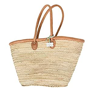 French shopping basket–Katie '–intrecciato a mano, brand new from le papillon Vert: XL, Natural, Shoulder Length Handles