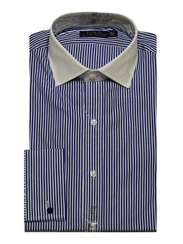 Preisvergleich Produktbild Ralph Lauren Hemd - Custom Regent - Stripe Royal Blue - Gr. 15.5 / 39