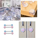 #9: Sanjana collections Baby Safety Furniture Edge Cushion Corner Silicon Guard(6)+ Infant Kids Safety Latch Lock for Drawer Kitchen Cupboard Machine Refrigerator Fridge Cabinet (4 Pcs) 6 + 4 = 10 PCs