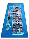 Massive 1,8m Blu Brillante Roulette/feltro, Layout Baize