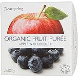 Clearspring Orgánica de Apple y del arándano Puré 200g
