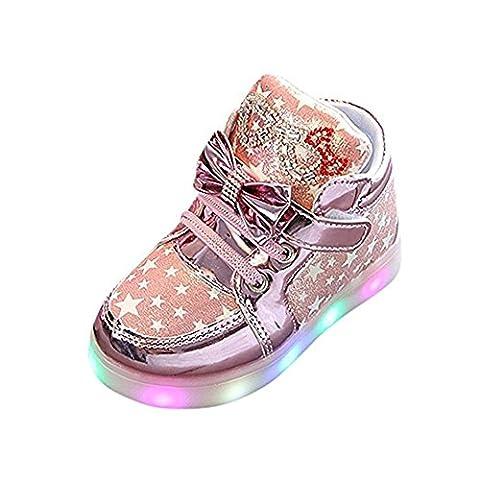 Schmetterling LED Schuhe Kids Light shoes, Stillshine - Girls blinken Sport Running Sneaker Baby shoes Halloween Christmas Gift (21, Rosa)