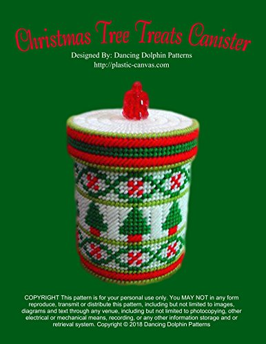 Christmas Tree Treats Canister: Plastic Canvas Pattern (English Edition)