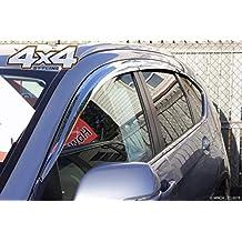 Autoclover - Juego de deflectores de Viento cromados para Honda CRV 2012-2017 (6