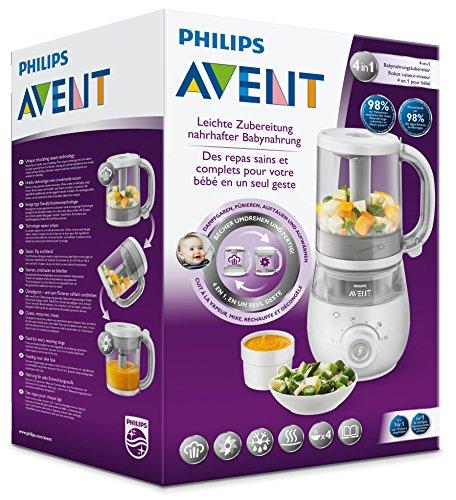 Philips Avent SCF875/02 4-in-1 Babynahrungszubereiter, weiß - 4