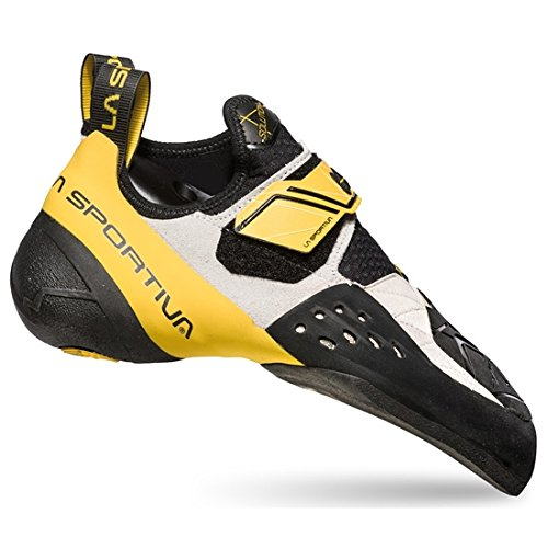 La Sportiva Solution Climbing Shoes Men White/Yellow Schuhgröße 42 1/2 2018 Kletterschuhe