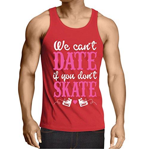 lepni.me Weste Kein Skate, Kein Datum - Coole Zitate Geschenk, Lustige Dating Zitate (Medium Rot Mehrfarben) (Schädel Boot-kette)