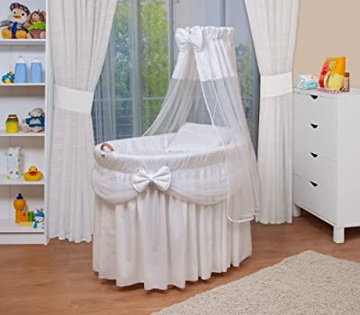 WALDIN Baby wicker cradle, Moses basket, 4 models available